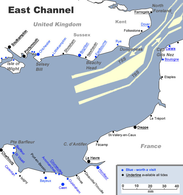 East Channel Map